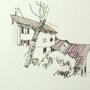Gardasee 2012 11 24x24 Tusche Aquarell auf Papier 2014 Z185
