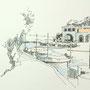 Mallorca 2009 6 24x24 Tusche Aquarell auf Papier 2014 Z196