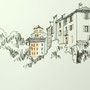 Gardasee 2012 7 24x24 Tusche Aquarell auf Papier 2014 Z189