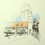 Ravensburg 4 24x24 Tusche Aquarell auf Papier 2014 Z176
