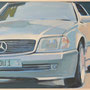 Silberner Stern 80x60 Acryl auf Malplatte 2012 A015