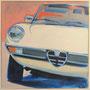 Schöner Italiener  80x80 Acryl auf Leinwand 2012 A013