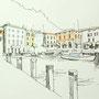 Gardasee 2012 4 24x24 Tusche Aquarell auf Papier 2014 Z192