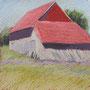Scheune 28-28 Pastell auf Papier 2011 LS044