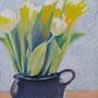 Tulpen 30 x 30 Pastell auf Papier 2011 LS001