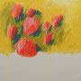 Blumen Ölkreide auf Pappe 30-30 2011 LS056