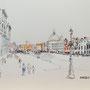 Venedig Canale Grande 3 36 x 28 Tusche Aquarell a.Papier 2015 Z230