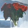 Rosenstrauß Acryl auf Leinwand 80-80 2010 LS055