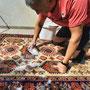 Lavaggio tappeto con acqua a mano Trieste, pulitura tappeto Trieste.