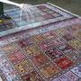 lavaggio tappeto persiano Trieste- fase 1: fissaggio dei colori in maniera che il tappeto non si scolori o non disperda i colori