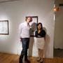 Kanako with Ken Saunders.