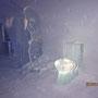 Eisskulptur im Schneehotel