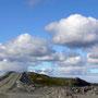 Die Rampe in der Mitte der Mine nach Norden guckend