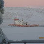 -40° in Kirkenes - der Eisbrecher hat gut zu tun