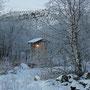 Die Toilette in Michas Hütte :-) Ein stilles und frostiges Örtchen