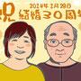 友達のご両親の結婚30周年お祝い
