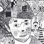 Doodle- Portraits, Klasse 5 und 6, unter Klasse 6, 2017
