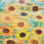 Sonnenblumencollage, Klasse 4
