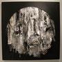 """""""Savage-Sauvage 31º50'27.67''N-9º32'01.33''O"""" 2013 dibujo,serigrafía,plásticos,estampación 160 x160 cm"""