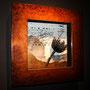 """""""Treasure"""" 2013 dibujo,serigrafía,pan de oro,estampación 60 x 60 cm"""