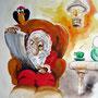 """Buchillustration  """"Der kleine Mann im roten Gewand."""" Eine Rabenerzählung. Text: Heidi Grun / Illustration: Martin Welzel   Norderstedt 2008"""