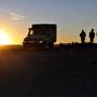 Sonnenuntergang vor dem Salzhotel