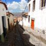 Enge und hübsche Gassen in Cuzco
