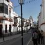 Innenstadt, im Hintergrund die Anden