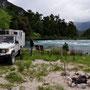 Wild Camping am Futaleufu nach einem aufregenden Tag