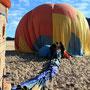 Der Ballon wird fachgerecht zusammengelegt