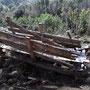 Alter Schlitten für den Holztransport