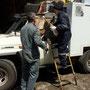 Puerto Montt, unser Packträger wird neu geschweisst