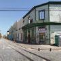Ein Strasse voller historischer Gebäude
