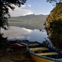 Lago Calafquen, unser Stellplatz direkt am See