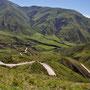 Wunderschöne Route runter vom Paso Questo del Obispo