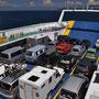 Volle Fähre von Istrien (Brestova) zur Insel Cres