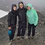 Eine Wanderung durchs Schneegestöber mit unseren neuen Freunden Heidi und Arnaud