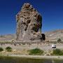 Valle Chubut, Piedra Parada - ein beliebter Kletterfels
