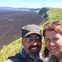 Am Kraterrand des Sierra Negra Vulkans