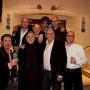 """""""TESTOSTERON II""""  De Kleine Comedie Amsterdam, januari 2010. V.l.n.r. (achter) Tjidde Luhrs, Wouter Kronenberg, Michaël van Buuren, Merijn Dijkstra, (voor) Henkjan Smits, Willem Nijholt, Kees Jansma, Clemens Schmuck"""