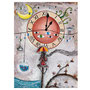"""Peinture acrylique-encre-collage : """"L'envol du temps"""". Présenté à l'exposition INterfaces à Chambéry en mai 2018."""