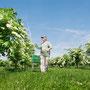 Mathias Senior bei den Bäumen