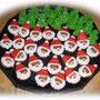 Weihnachtsmänner/Tannenbäume aus LEBKUCHEN