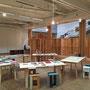 京都造形芸術大学   展覧会でのライブラリースペース設営。