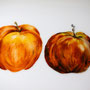 détail pomme - plat allongé 37cm/14cm (atelier)