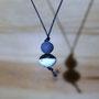 perle en terre noire 1cm - perle 2cm&noir mat (atelier)