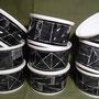 Différentes cocottes et ramequins - collection noir/blanc(atelier)