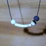 perle 0,8cm - tube 3cm - perle 0,8cm&noir mat - perle en terre noire 0,8cm (atelier)