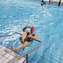 Des pratiquants heureux et à l'aise dans l'eau