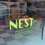 (株)C-1マネージメント 「club NEST インドアゴルフレンジ 店舗ウインドウデザイン・施工」   Art Director/Graphic designer:有本彩子  施工:(株)アクスル
